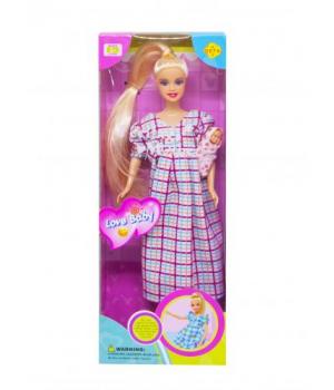 """Игрушка кукла """"Defa. Беременная"""" (платье в клеточку) 6001"""