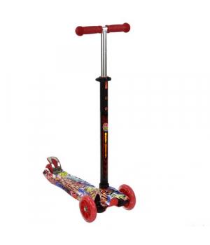 Самокат красный трехколесный детский, от 3 лет, Best Scooter