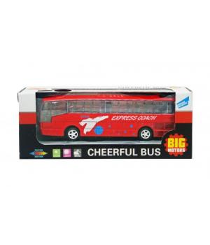 Автобус игрушка инерционный (красный) XL80136L