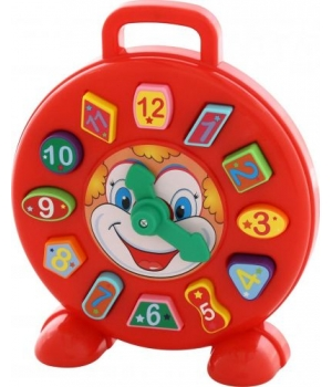 Часы сортер с геометрическими фигурками и цифрами, 62741