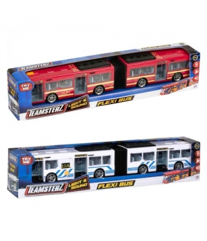 Автобус гармошка игрушка с открывающимися дверями, Teamsterz: Flexi Bus