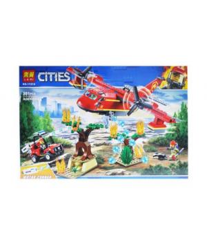 """Конструктор пожарный самолет, """"Спасательная операция"""" 381 деталь 11214"""