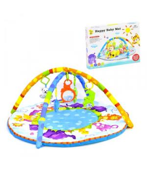 Игровой коврик для новорожденных с игрушками, Happy Baby