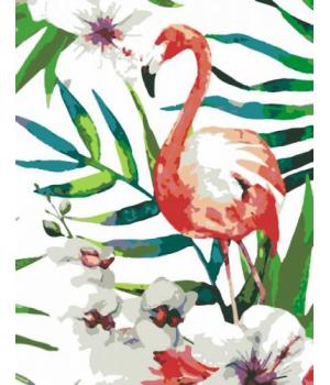"""Картина по номерам """"Тропическая птица"""" ★☆☆ N0001388 35х45 см"""