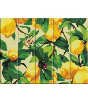 "Картина по номерам на дереве ""Лимонное дерево"" ASW011 40х30 см"