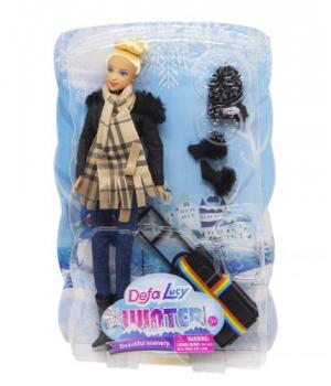 """Детская Кукла """"Defa. Путешественница"""", в черном 8424"""