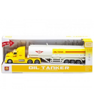 Іграшка фура машина з цистерною, жовтий WY783B