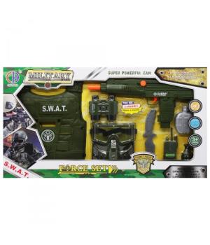 """Игровой набор """"Военный"""" с автоматом-трещёткой CH810A-2/CH810B-2"""