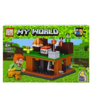 """Детский конструктор """"Minecraft - Майнкрафт - Майнкрафт. Военная база"""", 119 дет 63051"""