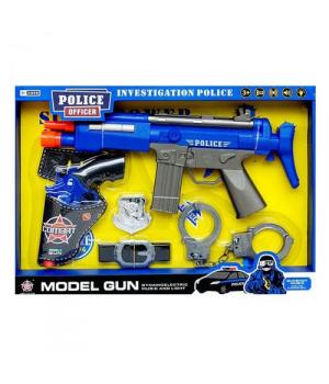 Игрушка набор полицейского с наручниками и автоматом, Police Officer