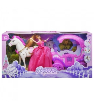 """Карета """"Pegasus"""", розовая 686-780/783"""