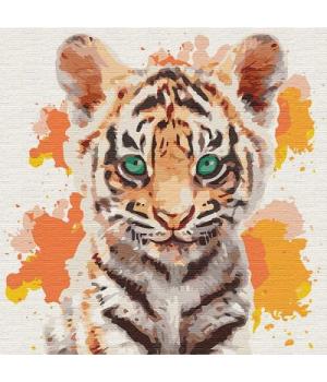 "Картина по номерам ""Маленький тигр"" ★★★★★ КНО4195 30х30 см"