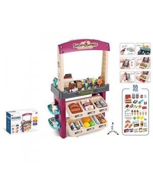 """Магазин """"Home Supermarket"""", 55 деталей, розовый 668-74/75"""