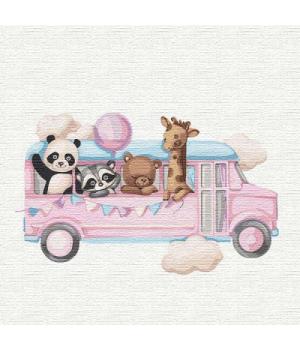 """Картина по номерам """"Весёлый автобус"""" ★★★ КНО2356 30х30 см"""