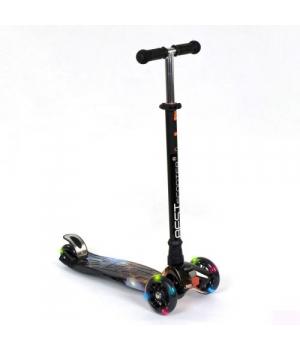 Самокат скутер трехколесный, черный, Best Scooter