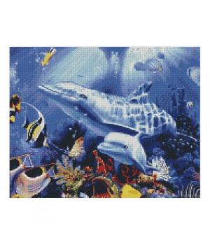 "Алмазная мозаика ""Два дельфина"" FA11051 40х50 см"