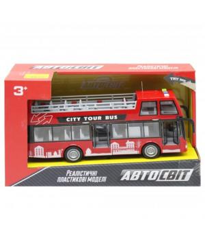 """Автобус двухэтажный игрушка """"Автосвіт"""", красный AS-2627"""