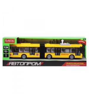 Автобус гармошка игрушка, жёлтый, свет, звук