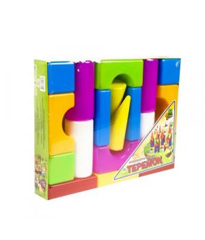 """Детские кубики конструктор, """"Теремок"""" (19 деталей)"""