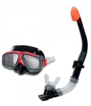 Маска для плавания под водой с трубкой, от 8 лет, Intex