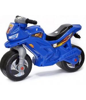 Детский мотоцикл толокар синий, со звуком, Орион