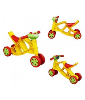 Беговел байк музыкальный, (жёлтый), Doloni Toys