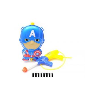 """Водяной пистолет с баллоном """"Капитан Америка"""" 123-8#"""