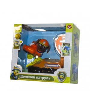 """Герой с машинкой """"Щенячий патруль"""" ЗУМА (оранжевый) CH701G"""