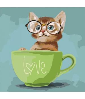 "Картина по номерам ""Lovely kitten"" ★★★ КНО4057"
