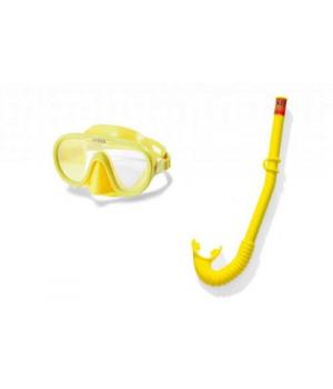 Маска трубка для плавания детская, от 8 лет, (желтые), Intex