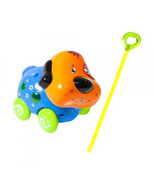 Игрушечная каталка музыкальная Собачка