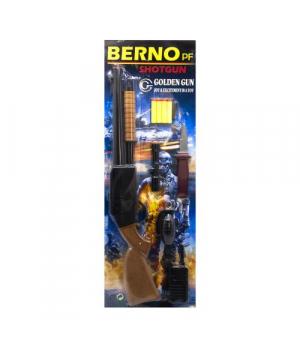 """Пистолет с присосками Дробовик """"Berno"""", 4 стрелы"""