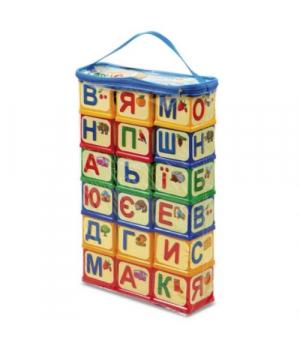 """Детские кубики с буквами на Украинском , """"Абетка Українською мовою"""", 18 шт, Юника"""