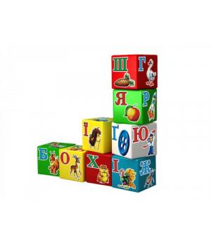 """Детские кубики пластмассовые """"Абетка Веселка ТехноК"""" (9 кубиков. Укр), 1806"""