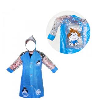 Детский водонепроницаемый плащ-дождевик синий BT-CR-0004