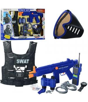 Детский набор полицейского с бронежилетом и маской, Justice