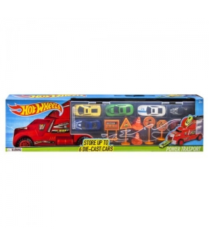 Игрушка фура (аналог hot wheels) Трейлер с машинками, 8820, красный