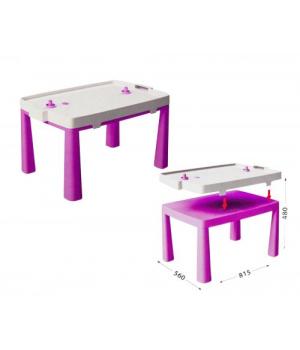 Детский пластиковый стол и игра аэрохоккей 04580/3
