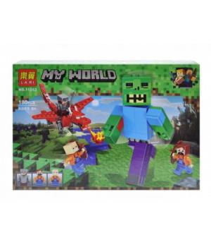 "Игрушка конструктор ""My World Minecraft - Майнкрафт - Майнкрафт: битва с Зомби-великаном"", 180 дет 11263"