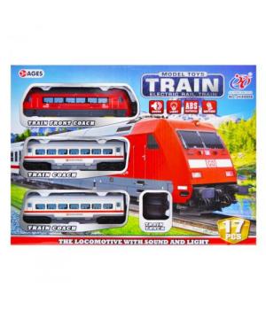 Детская железная дорога экспресс, световые и звуковые эффекты
