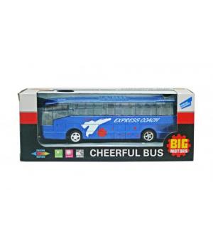 Автобус игрушка инерционный (синий) XL80136L