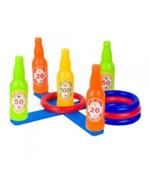 Кольцеброс детский с кольцами и бутылками, Y1806