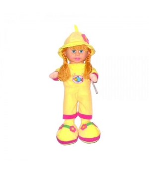 Кукла мягкая с чепчиком (желтый) 260818