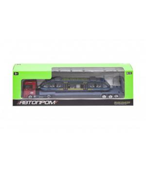 Іграшкова фура з вагоном метро, Автопром, (синій) 7875
