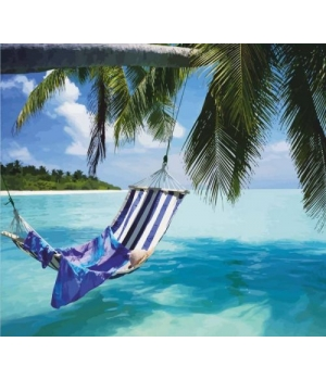 "Картина по номерам ""Райский остров"" ★★☆ N00013240 35х45 см"