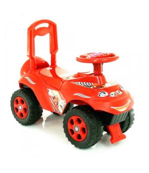 Машинка каталка с спинкой, толокар с рулем, красный, Doloni Toys