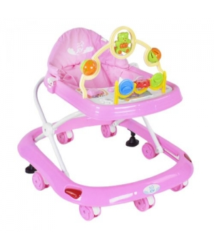 Ходунки детские для малышей, розовый цвет,  JOY 258