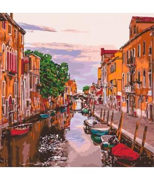 """Картина по номерам """"Венецианский вечер"""" ★★★★★ КНО3571"""