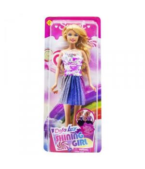 Игрушечная кукла Defa Lucy Shining Girl, синяя юбка 8434