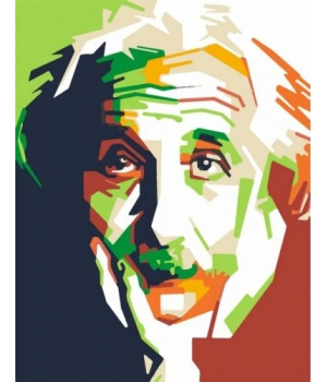 "Картина по номерам ""Альберт Эйнштейн"" ★☆☆ N00013154 35х45 см"